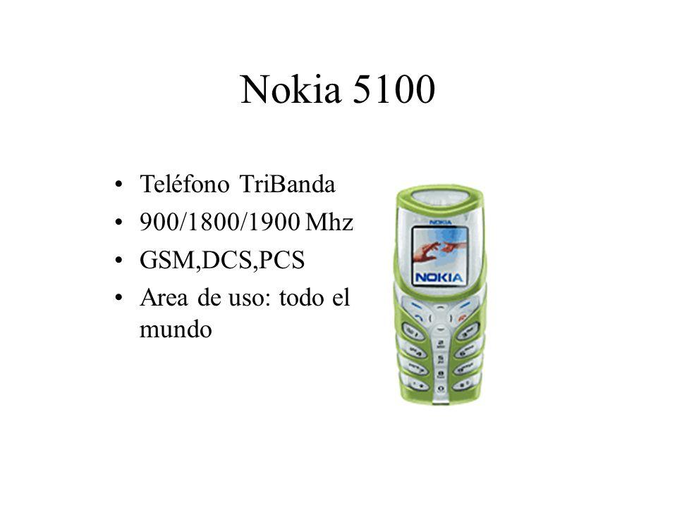 Nokia 5100 Teléfono TriBanda 900/1800/1900 Mhz GSM,DCS,PCS Area de uso: todo el mundo