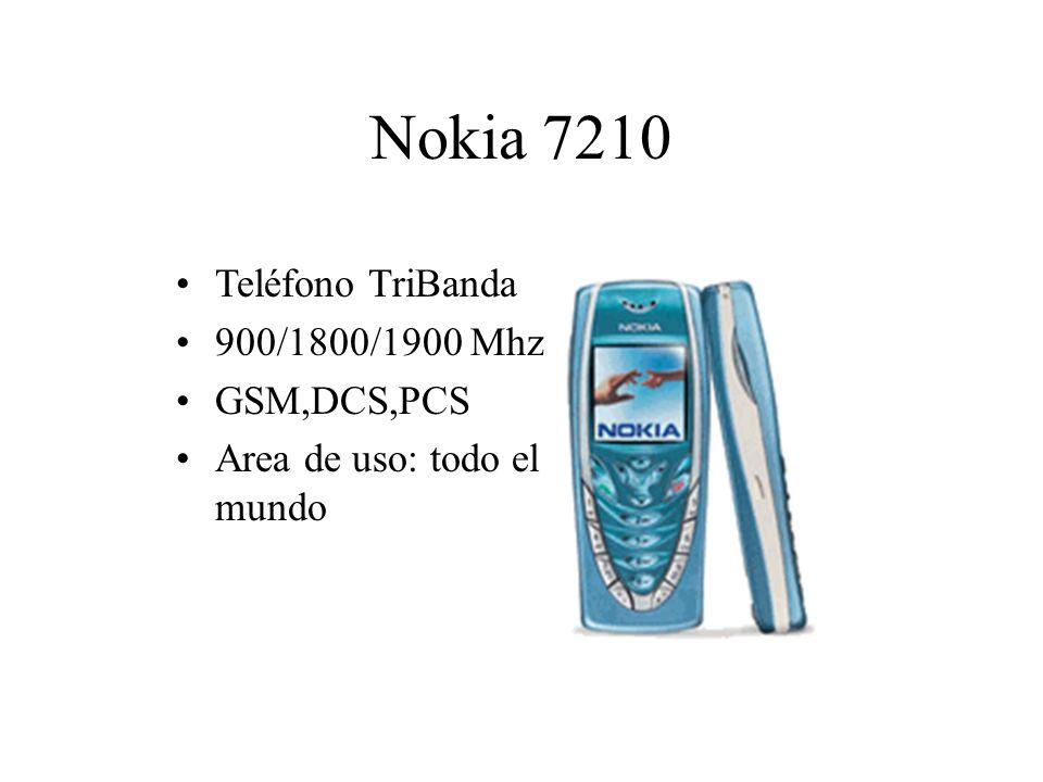 Nokia 7210 Teléfono TriBanda 900/1800/1900 Mhz GSM,DCS,PCS Area de uso: todo el mundo