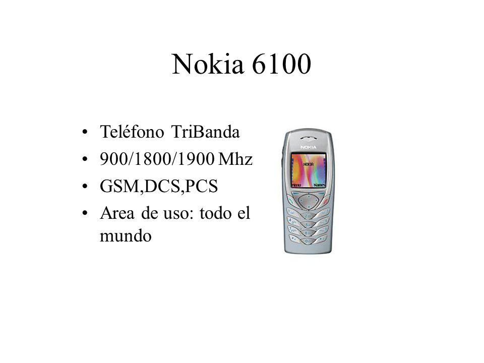 Nokia 6100 Teléfono TriBanda 900/1800/1900 Mhz GSM,DCS,PCS Area de uso: todo el mundo
