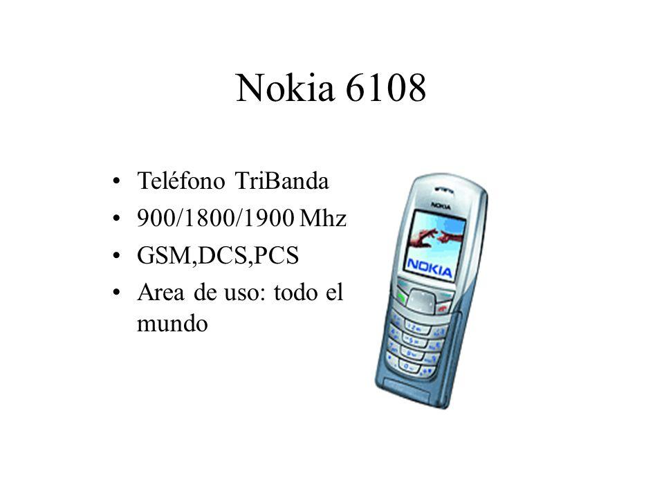 Nokia 6108 Teléfono TriBanda 900/1800/1900 Mhz GSM,DCS,PCS Area de uso: todo el mundo