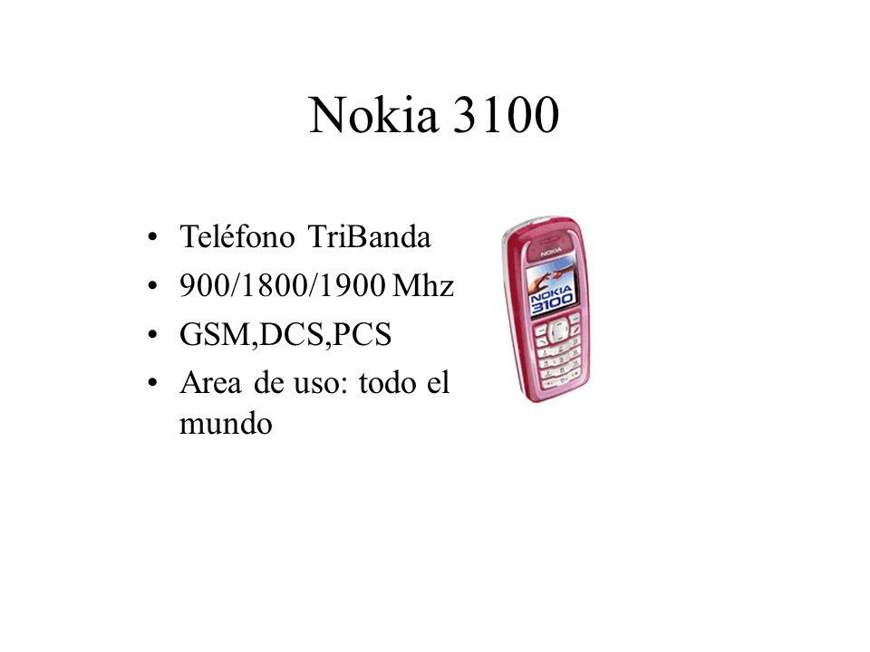 Nokia 3100 Teléfono TriBanda 900/1800/1900 Mhz GSM,DCS,PCS Area de uso: todo el mundo