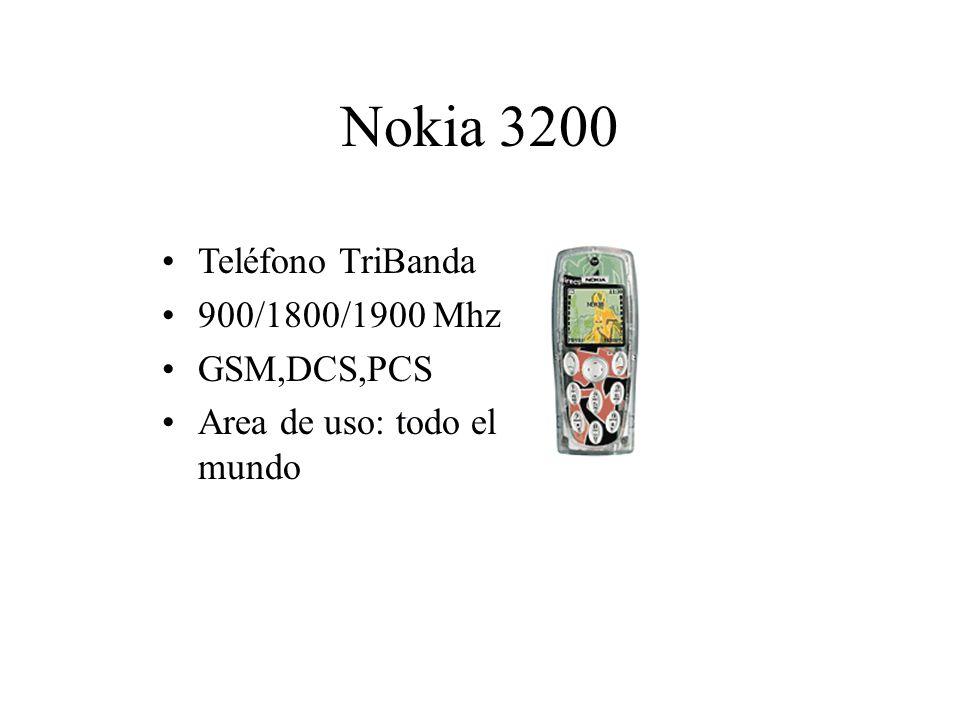 Nokia 3200 Teléfono TriBanda 900/1800/1900 Mhz GSM,DCS,PCS Area de uso: todo el mundo