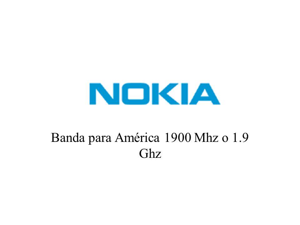 Banda para América 1900 Mhz o 1.9 Ghz