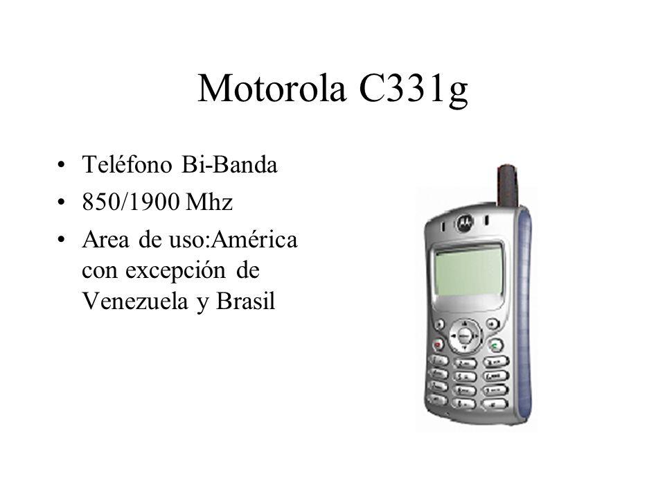 Motorola C331g Teléfono Bi-Banda 850/1900 Mhz Area de uso:América con excepción de Venezuela y Brasil