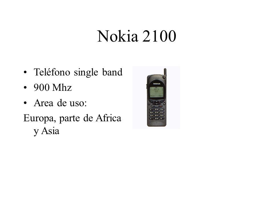 Nokia 2100 Teléfono single band 900 Mhz Area de uso: Europa, parte de Africa y Asia