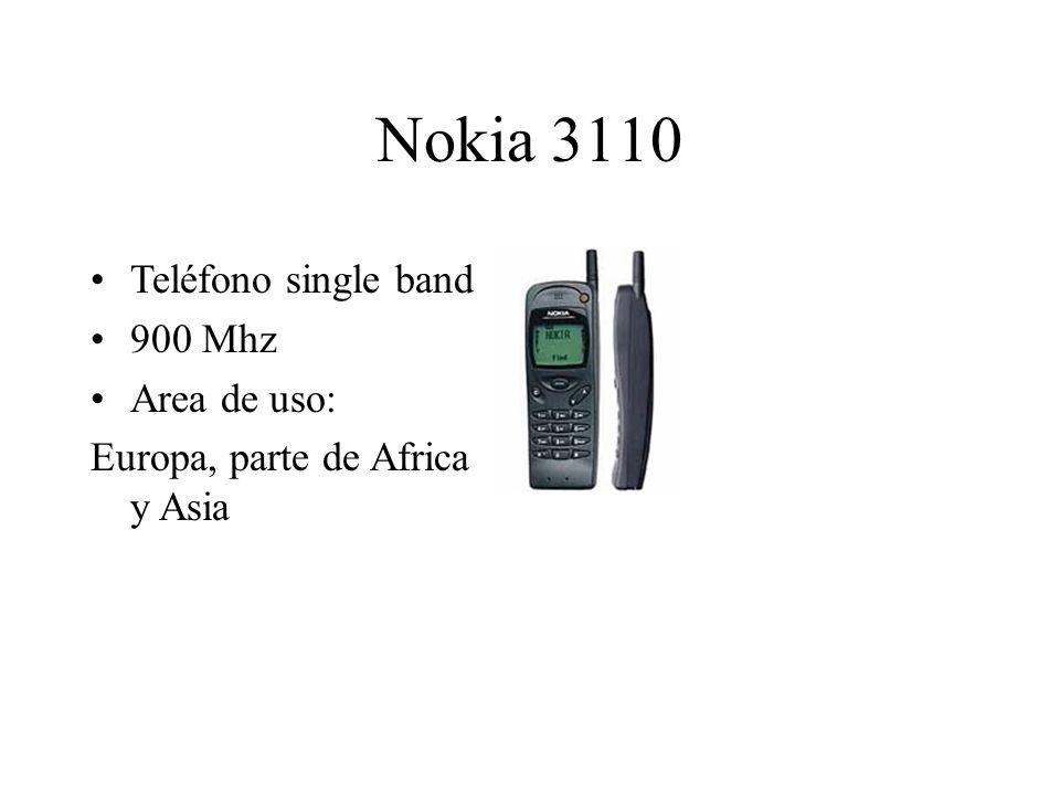 Nokia 3110 Teléfono single band 900 Mhz Area de uso: Europa, parte de Africa y Asia