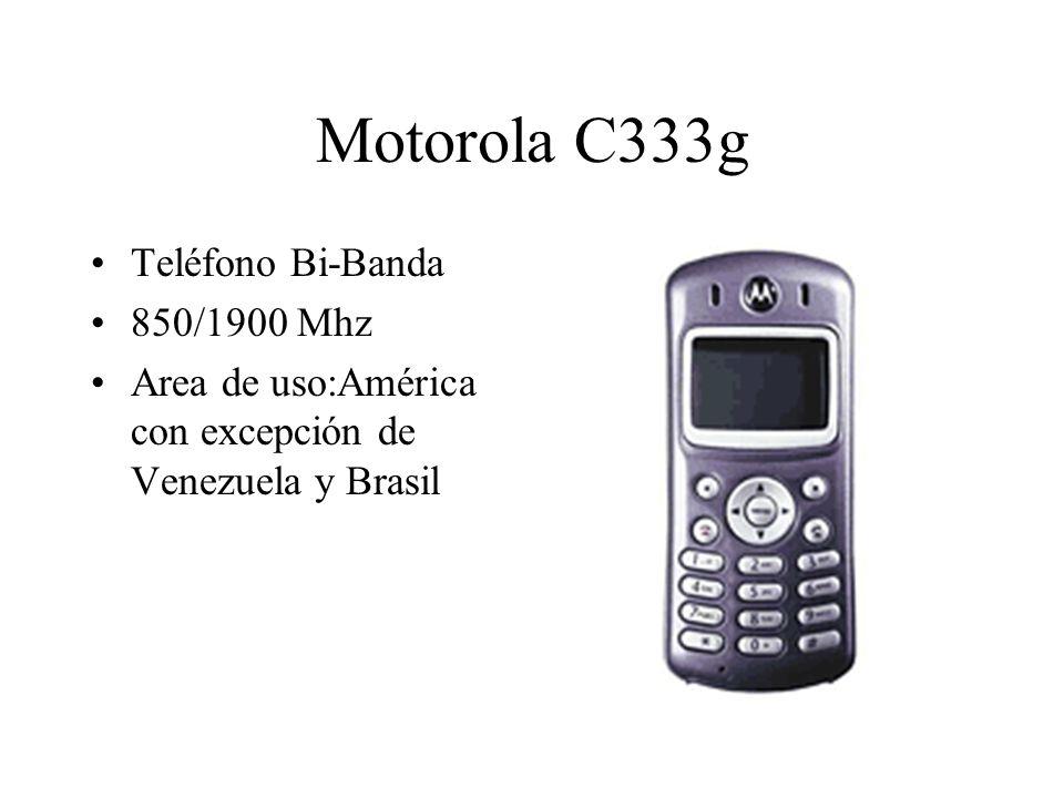 Motorola C333g Teléfono Bi-Banda 850/1900 Mhz Area de uso:América con excepción de Venezuela y Brasil