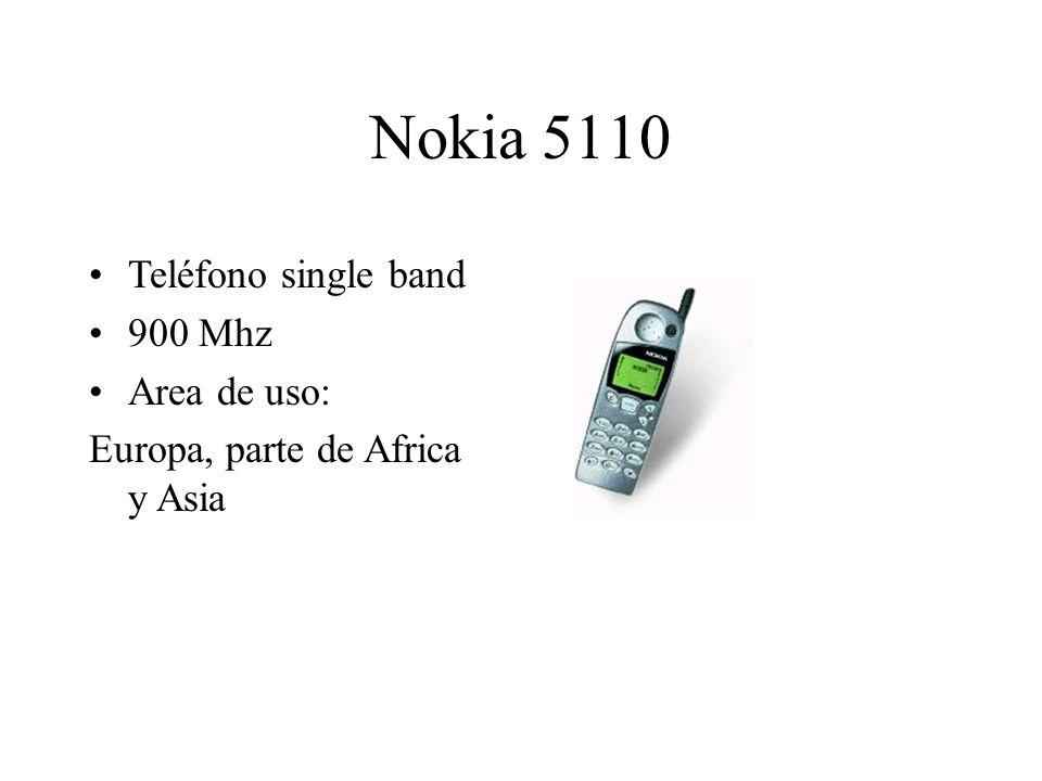 Nokia 5110 Teléfono single band 900 Mhz Area de uso: Europa, parte de Africa y Asia