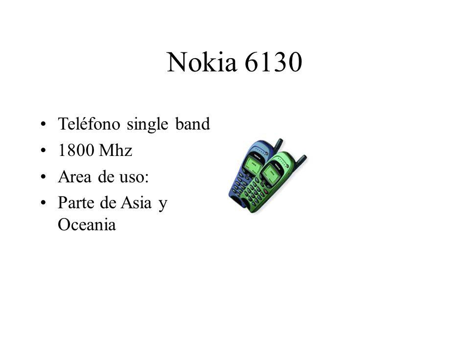 Nokia 6130 Teléfono single band 1800 Mhz Area de uso: Parte de Asia y Oceania