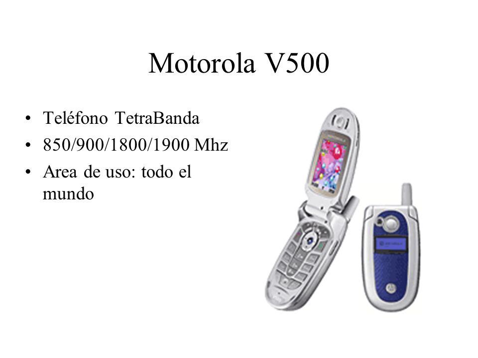 Motorola V500 Teléfono TetraBanda 850/900/1800/1900 Mhz Area de uso: todo el mundo
