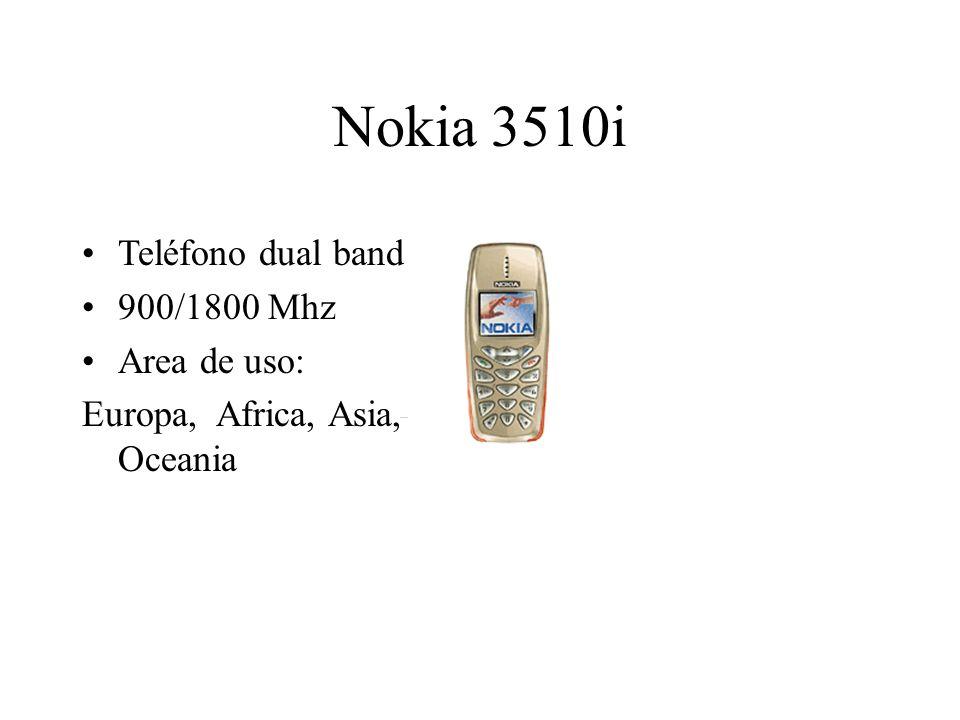 Nokia 3510i Teléfono dual band 900/1800 Mhz Area de uso: Europa, Africa, Asia, Oceania