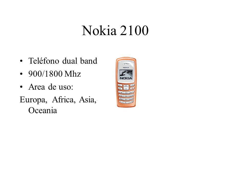 Nokia 2100 Teléfono dual band 900/1800 Mhz Area de uso: Europa, Africa, Asia, Oceania