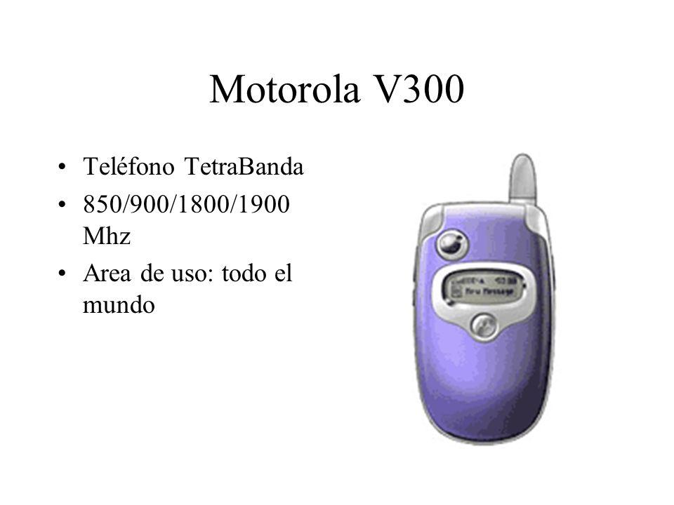 Motorola V300 Teléfono TetraBanda 850/900/1800/1900 Mhz Area de uso: todo el mundo