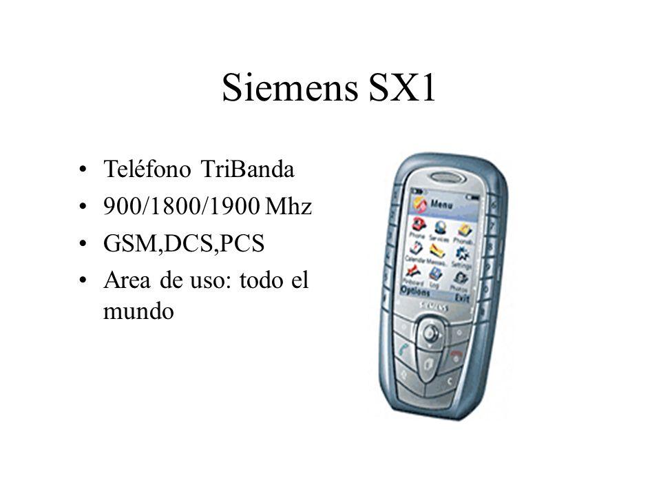Siemens SX1 Teléfono TriBanda 900/1800/1900 Mhz GSM,DCS,PCS Area de uso: todo el mundo