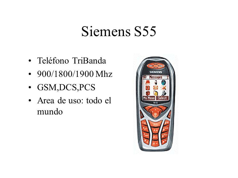 Siemens S55 Teléfono TriBanda 900/1800/1900 Mhz GSM,DCS,PCS Area de uso: todo el mundo