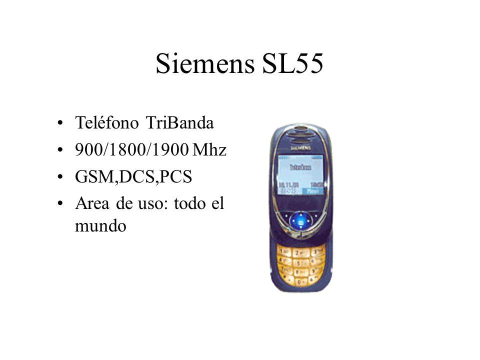 Siemens SL55 Teléfono TriBanda 900/1800/1900 Mhz GSM,DCS,PCS Area de uso: todo el mundo