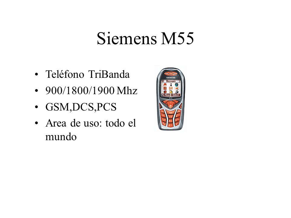 Siemens M55 Teléfono TriBanda 900/1800/1900 Mhz GSM,DCS,PCS Area de uso: todo el mundo