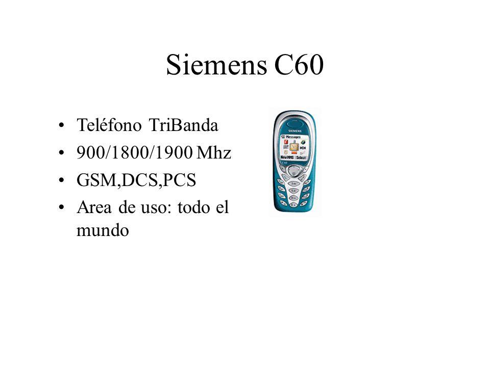Siemens C60 Teléfono TriBanda 900/1800/1900 Mhz GSM,DCS,PCS Area de uso: todo el mundo