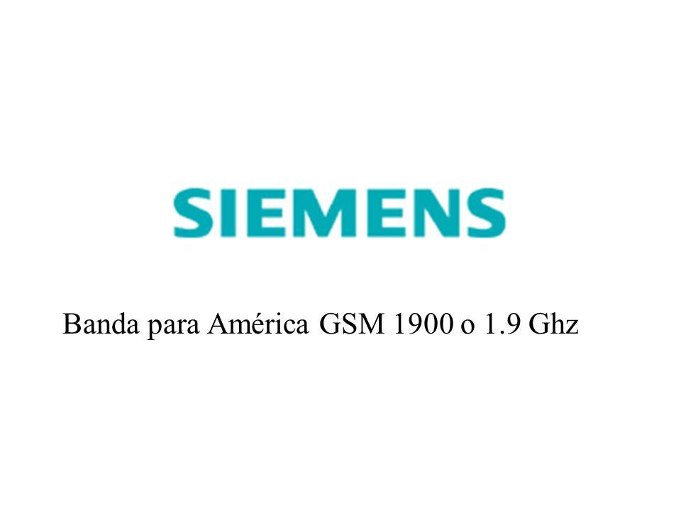 Banda para América GSM 1900 o 1.9 Ghz