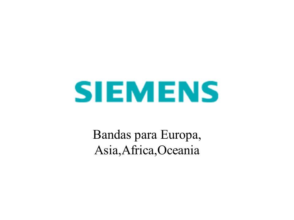 Bandas para Europa, Asia,Africa,Oceania