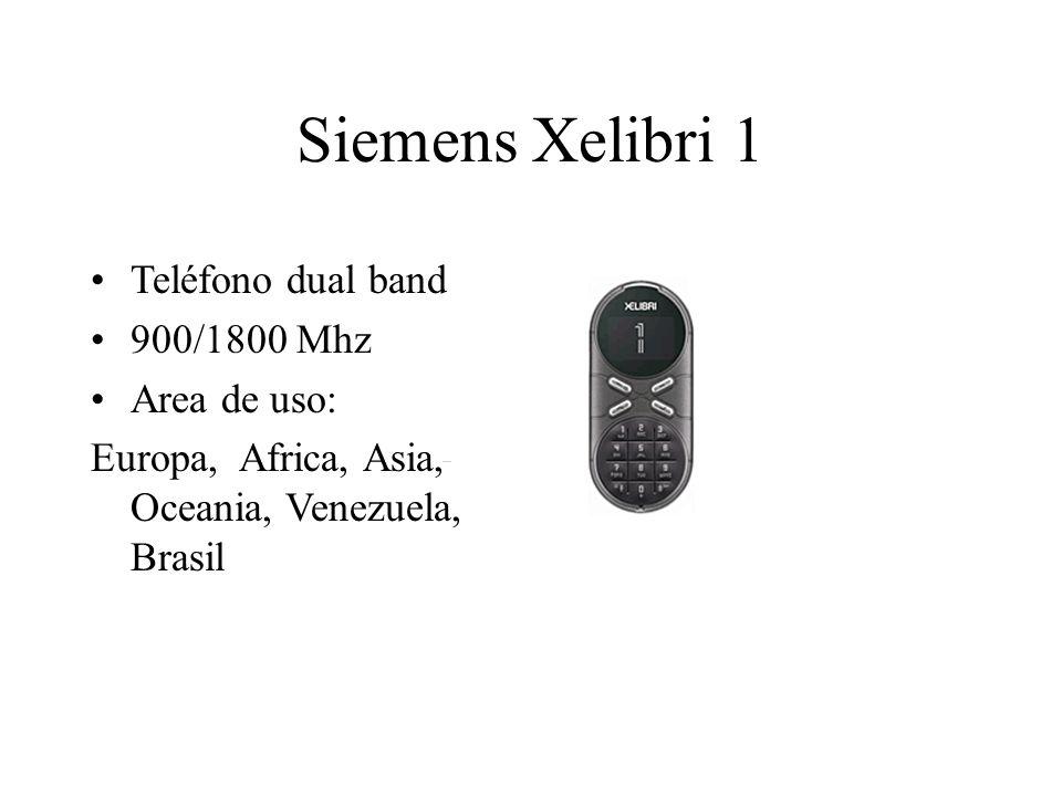 Siemens Xelibri 1 Teléfono dual band 900/1800 Mhz Area de uso: Europa, Africa, Asia, Oceania, Venezuela, Brasil