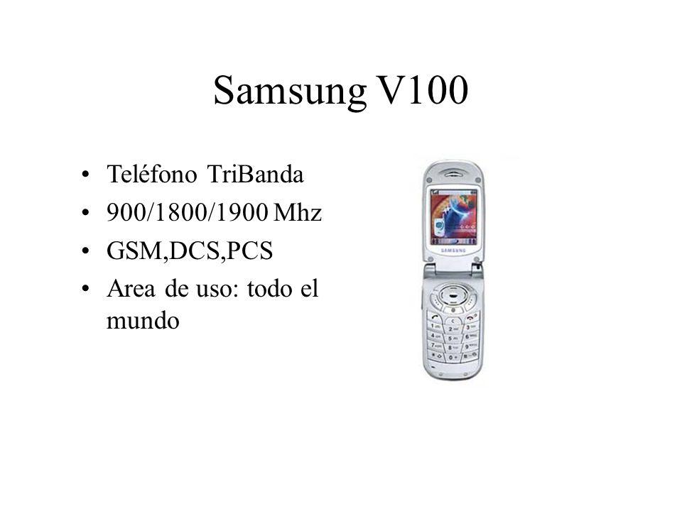Samsung V100 Teléfono TriBanda 900/1800/1900 Mhz GSM,DCS,PCS Area de uso: todo el mundo