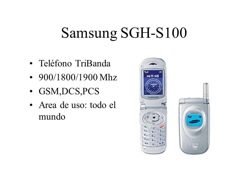 Samsung SGH-S100 Teléfono TriBanda 900/1800/1900 Mhz GSM,DCS,PCS Area de uso: todo el mundo