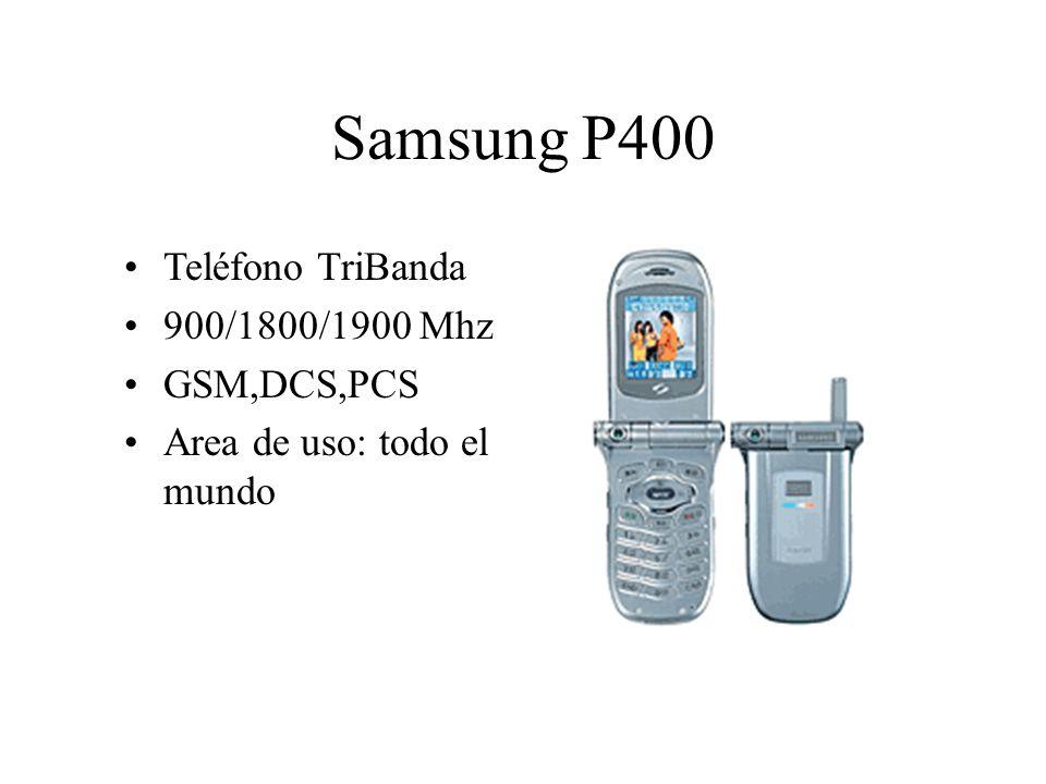 Samsung P400 Teléfono TriBanda 900/1800/1900 Mhz GSM,DCS,PCS Area de uso: todo el mundo