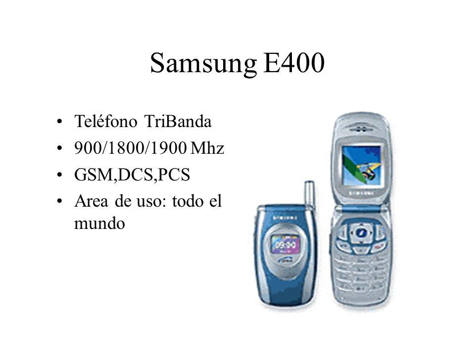 Samsung E400 Teléfono TriBanda 900/1800/1900 Mhz GSM,DCS,PCS Area de uso: todo el mundo