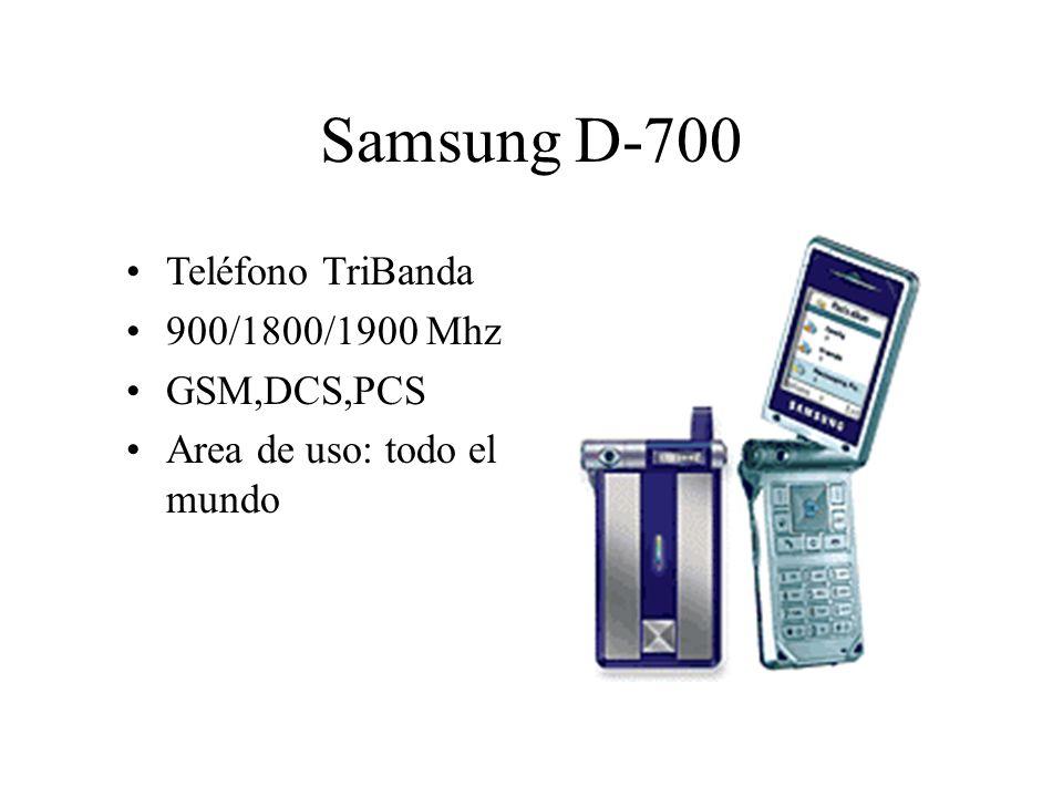 Teléfono TriBanda 900/1800/1900 Mhz GSM,DCS,PCS Area de uso: todo el mundo Samsung D-700