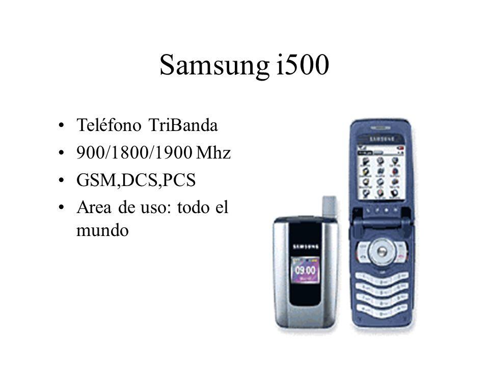 Teléfono TriBanda 900/1800/1900 Mhz GSM,DCS,PCS Area de uso: todo el mundo Samsung i500