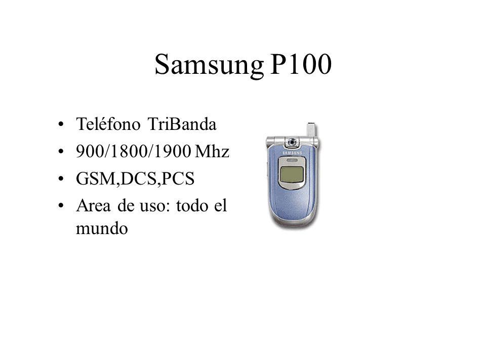 Samsung P100 Teléfono TriBanda 900/1800/1900 Mhz GSM,DCS,PCS Area de uso: todo el mundo