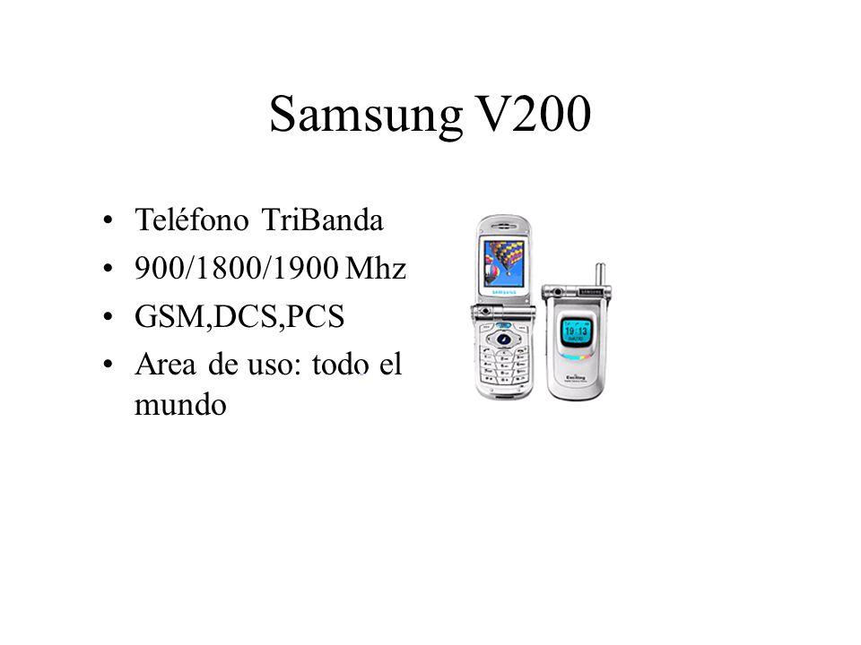 Samsung V200 Teléfono TriBanda 900/1800/1900 Mhz GSM,DCS,PCS Area de uso: todo el mundo
