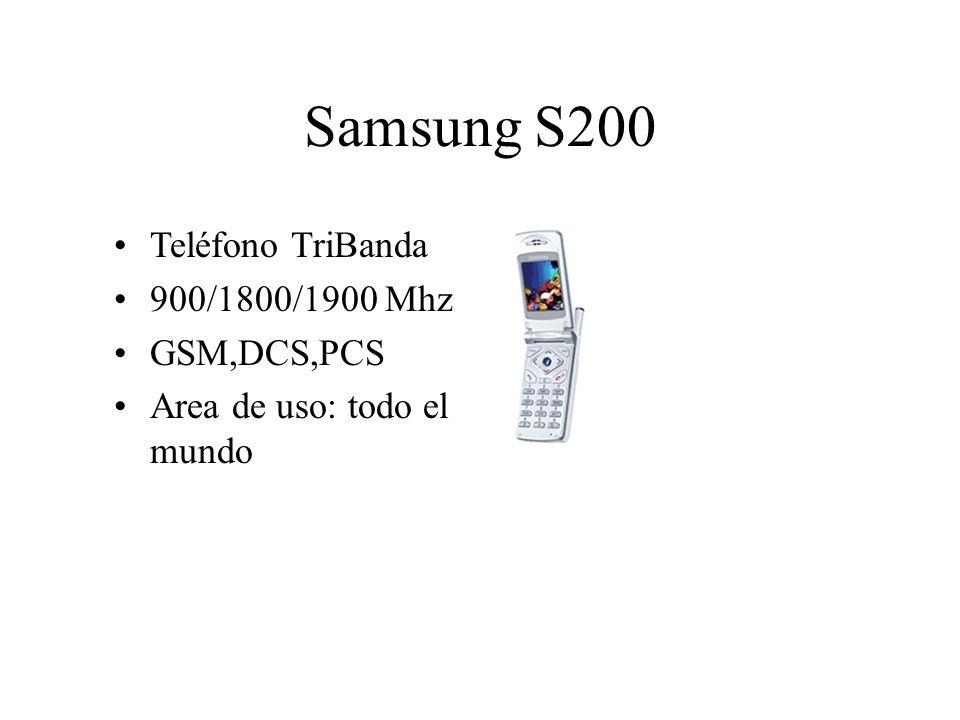 Samsung S200 Teléfono TriBanda 900/1800/1900 Mhz GSM,DCS,PCS Area de uso: todo el mundo
