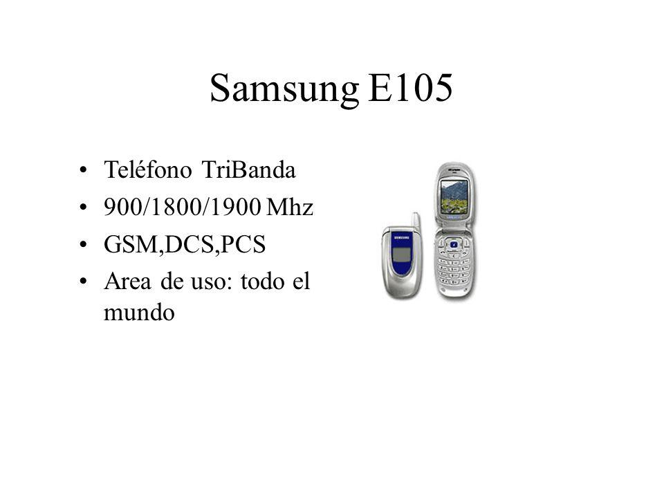 Samsung E105 Teléfono TriBanda 900/1800/1900 Mhz GSM,DCS,PCS Area de uso: todo el mundo