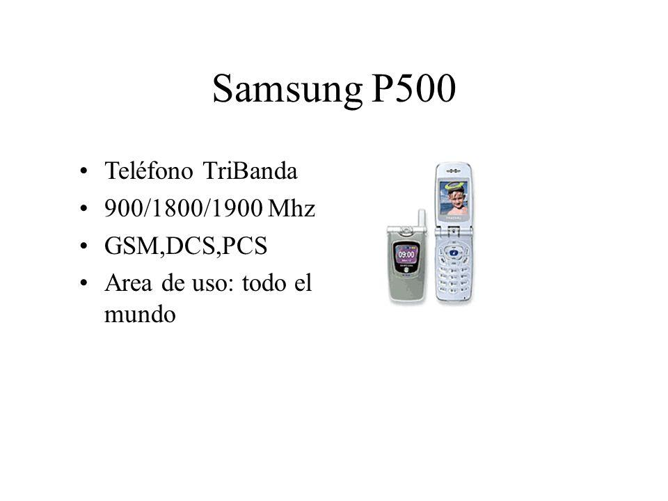 Samsung P500 Teléfono TriBanda 900/1800/1900 Mhz GSM,DCS,PCS Area de uso: todo el mundo