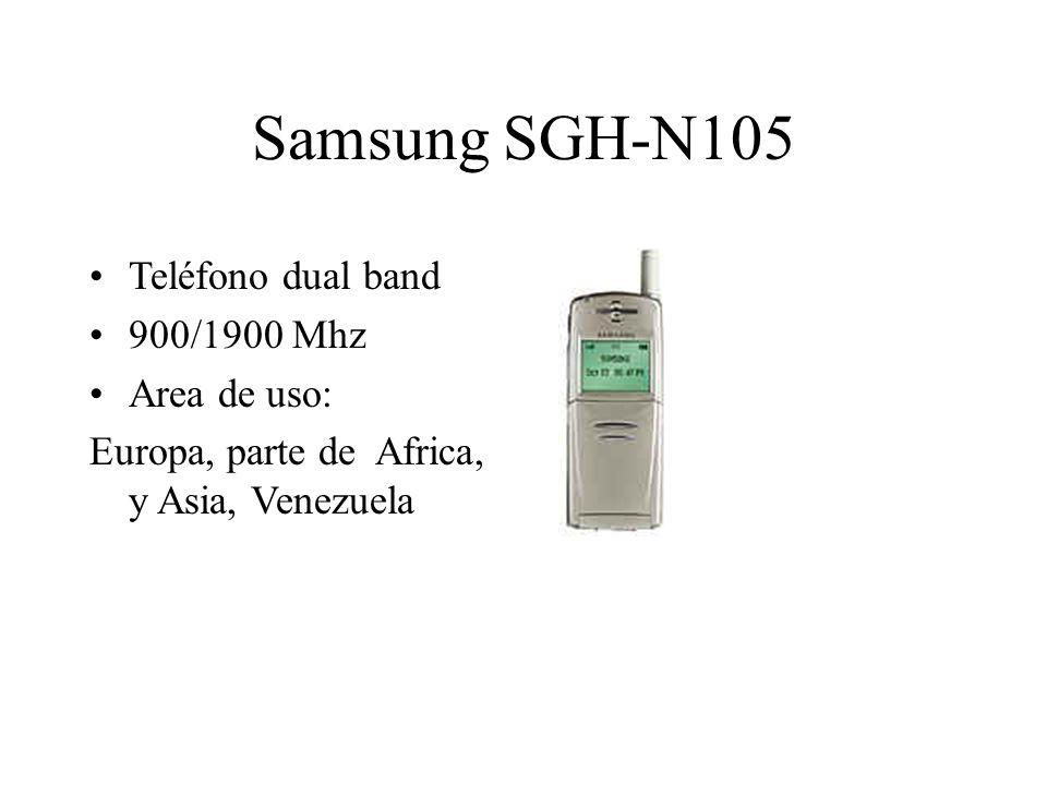 Samsung SGH-N105 Teléfono dual band 900/1900 Mhz Area de uso: Europa, parte de Africa, y Asia, Venezuela