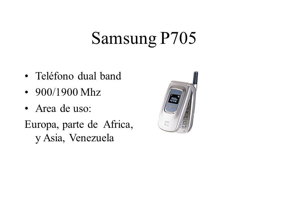 Samsung P705 Teléfono dual band 900/1900 Mhz Area de uso: Europa, parte de Africa, y Asia, Venezuela
