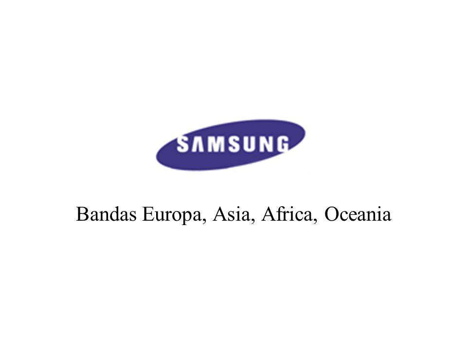 Bandas Europa, Asia, Africa, Oceania