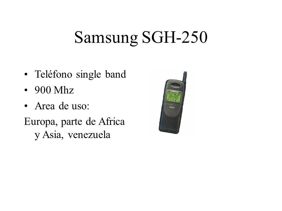 Samsung SGH-250 Teléfono single band 900 Mhz Area de uso: Europa, parte de Africa y Asia, venezuela