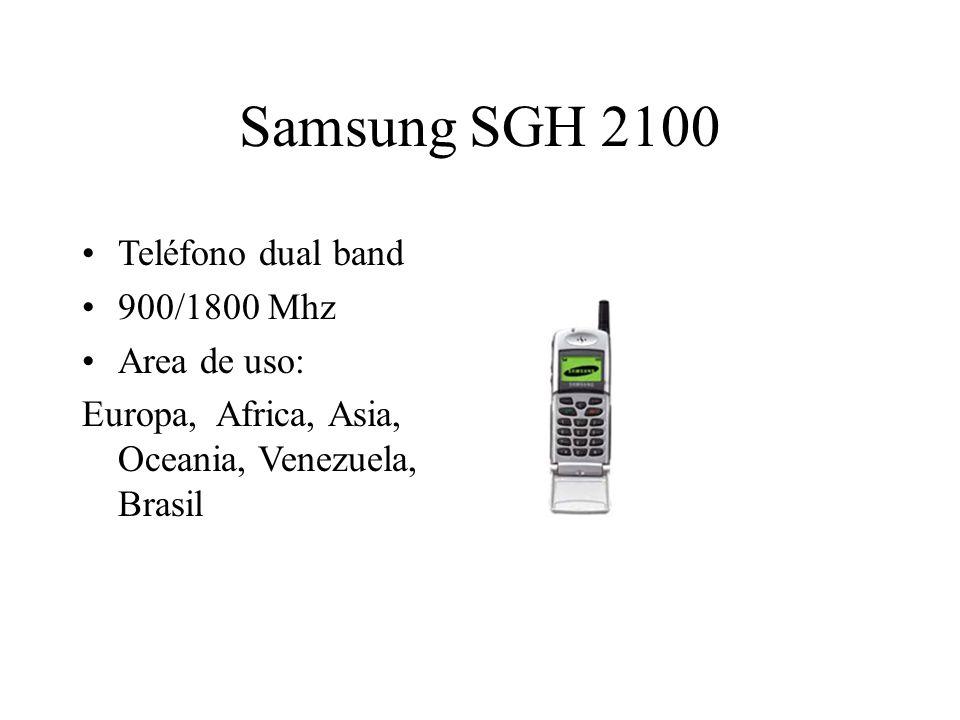 Samsung SGH 2100 Teléfono dual band 900/1800 Mhz Area de uso: Europa, Africa, Asia, Oceania, Venezuela, Brasil