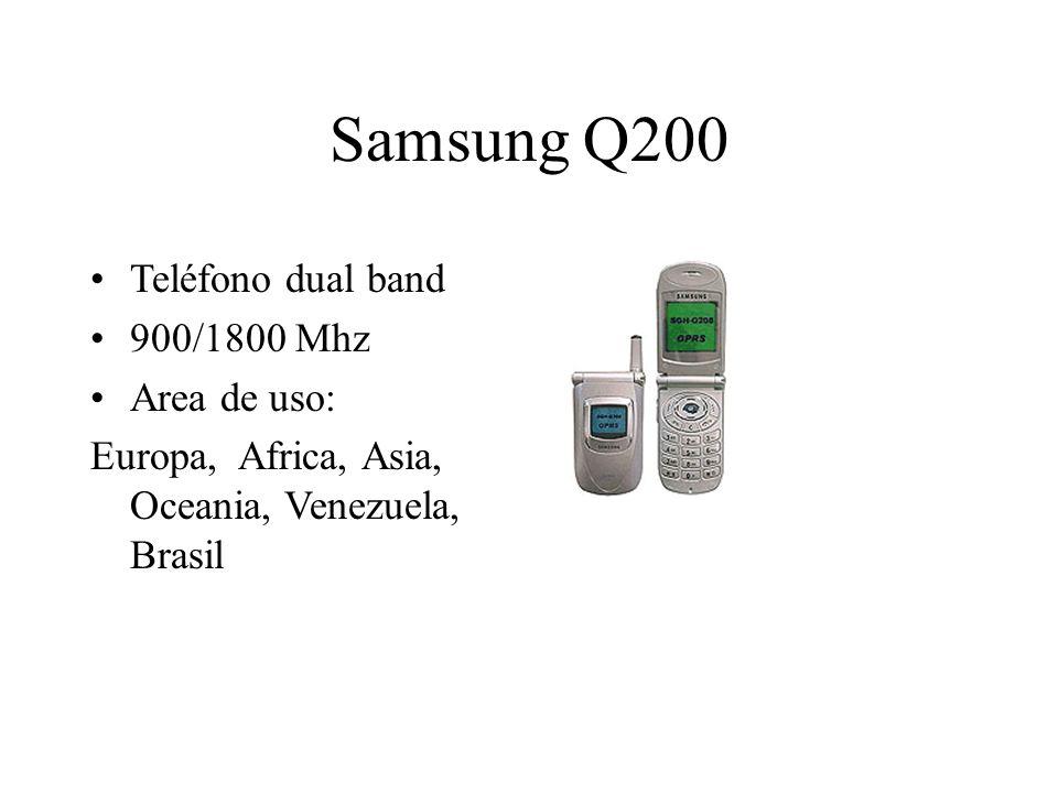 Samsung Q200 Teléfono dual band 900/1800 Mhz Area de uso: Europa, Africa, Asia, Oceania, Venezuela, Brasil