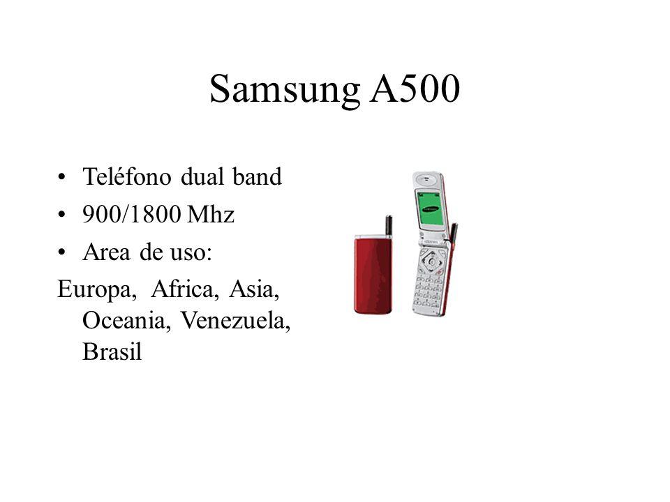 Samsung A500 Teléfono dual band 900/1800 Mhz Area de uso: Europa, Africa, Asia, Oceania, Venezuela, Brasil