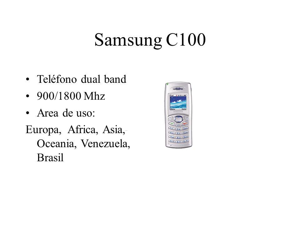 Samsung C100 Teléfono dual band 900/1800 Mhz Area de uso: Europa, Africa, Asia, Oceania, Venezuela, Brasil