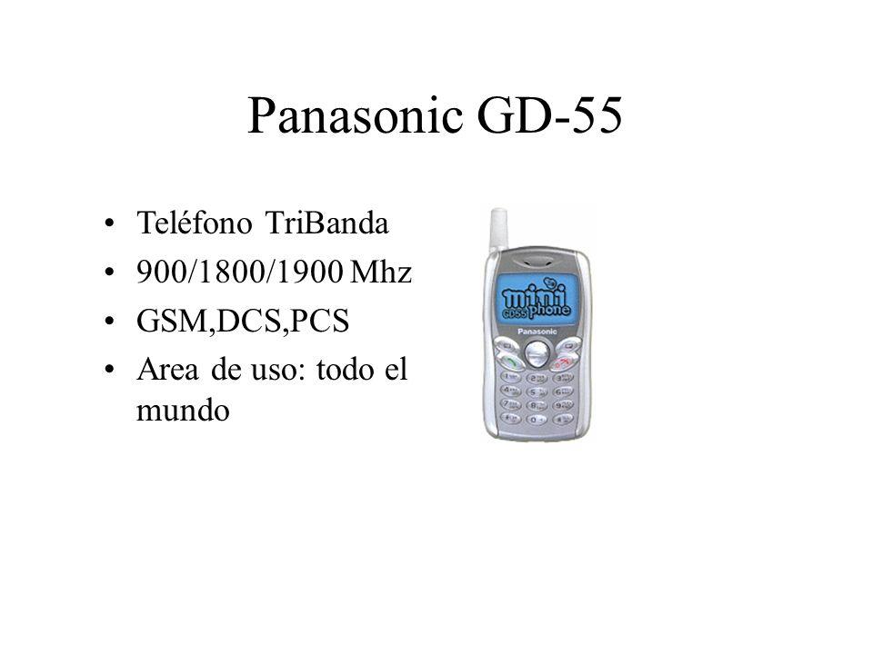 Panasonic GD-55 Teléfono TriBanda 900/1800/1900 Mhz GSM,DCS,PCS Area de uso: todo el mundo