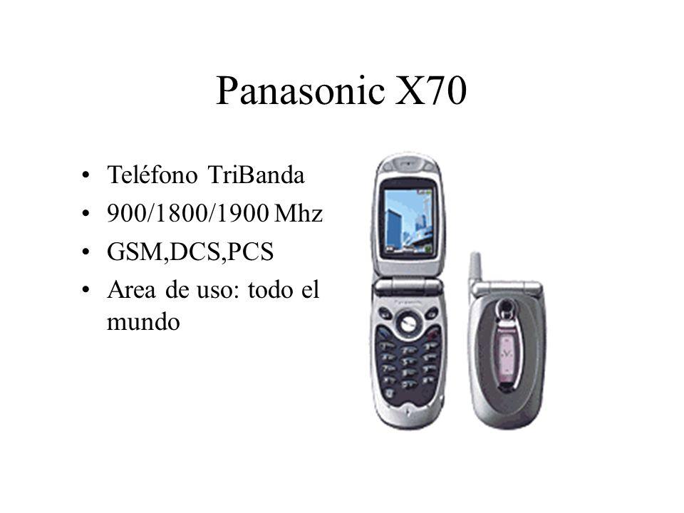 Panasonic X70 Teléfono TriBanda 900/1800/1900 Mhz GSM,DCS,PCS Area de uso: todo el mundo