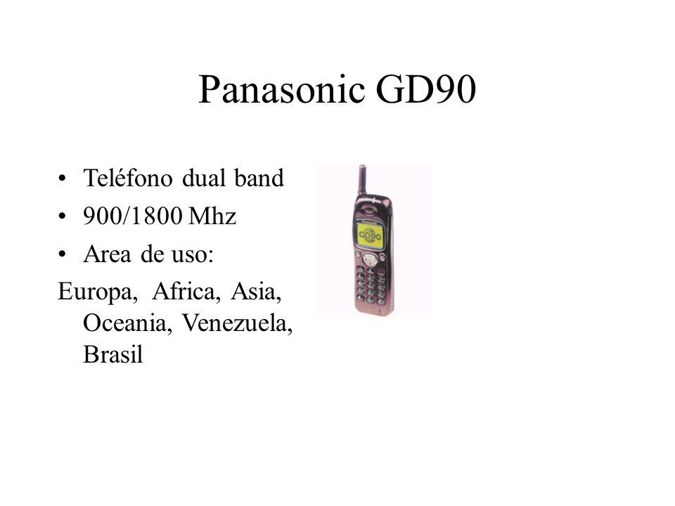 Panasonic GD90 Teléfono dual band 900/1800 Mhz Area de uso: Europa, Africa, Asia, Oceania, Venezuela, Brasil