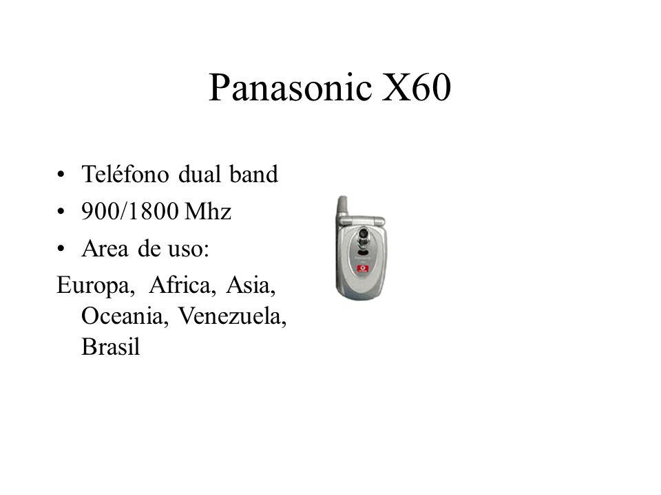 Panasonic X60 Teléfono dual band 900/1800 Mhz Area de uso: Europa, Africa, Asia, Oceania, Venezuela, Brasil