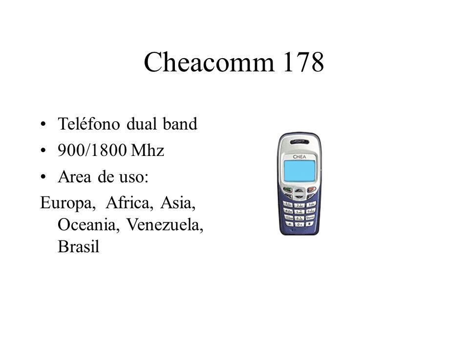 Cheacomm 178 Teléfono dual band 900/1800 Mhz Area de uso: Europa, Africa, Asia, Oceania, Venezuela, Brasil