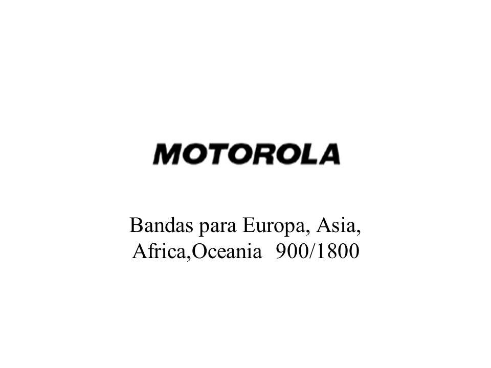 Bandas para Europa, Asia, Africa,Oceania 900/1800